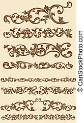 A vector set of javanese's beautiful vintage of floral circle ornament. Looks luxurious and exclusive, this vector is very good for card, brochure, invitation, or other application that needs exclusive and vintage look. Available as a Vector in EPS8 format that can be scaled to any size without loss...