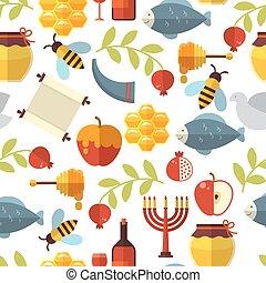 Jewish New Year Rosh Hashanah Pattern