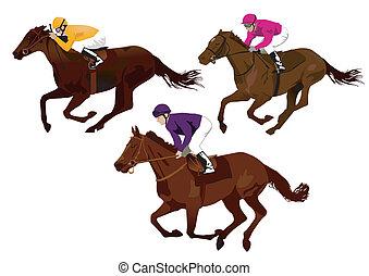 jockeys at the races