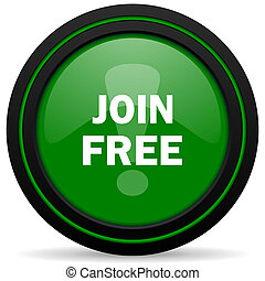 join free green icon
