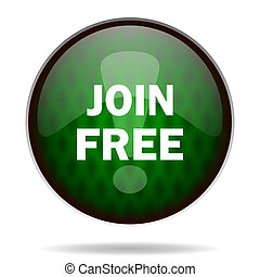 join free green internet icon