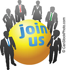 Join up with business people ball