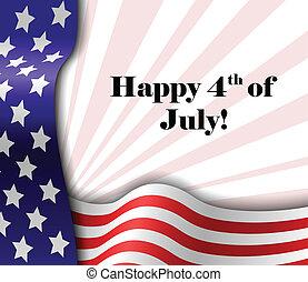 July 4 patriotic text frame