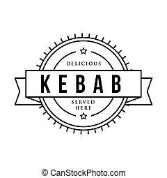 Kebab vintage stamp sign