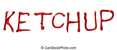 ketchup letter word seasoning condiment food