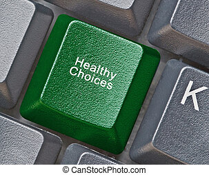 Keyboard with key for healthy choices