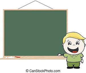 kid blackboard