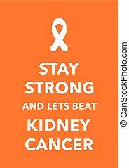 kidney cancer poster