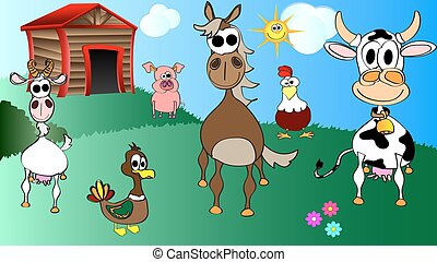 kids cartoon vector illustration of