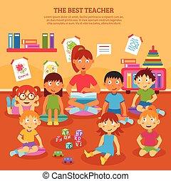 Kids Teacher Poster