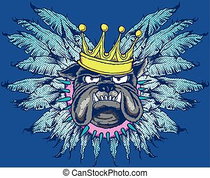 KING DOG WITH WINGS
