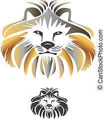 King lion vector logo