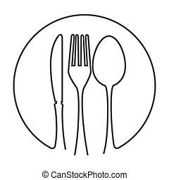 kitchen fork knife spoon cutlery