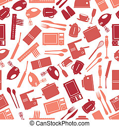 kitchen icon color pattern eps10