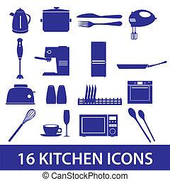 kitchen icon set eps10