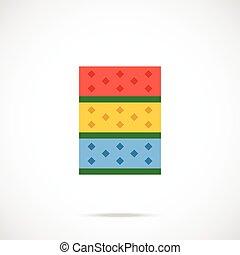 Kitchen sponges flat icon