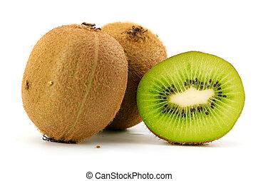 kiwi fruit isolated on a white background