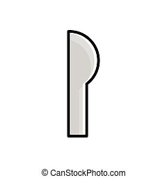 Knife flat icon. Design template vector