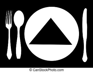 knife, fork and spoon vector