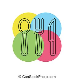 Knife, Fork and Spoon vector icon