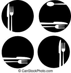 Knife fork plate