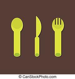 Knife Fork Spoon.