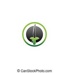 Knife icon logo vector