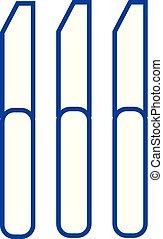 Knife line icon concept. Knife flat vector symbol, sign, outline illustration.