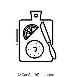 Knife line icon, concept sign, outline vector illustration, linear symbol.