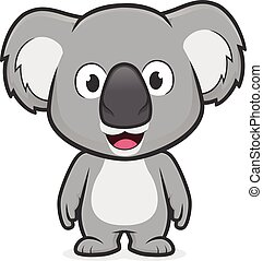 Clipart picture of a koala cartoon character standing