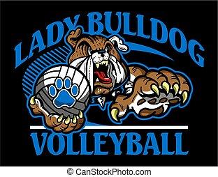 lady bulldog volleyball