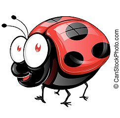 ladybug cartoon isolated
