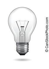 Light bulb. Vector illustration