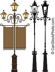 Lamp post set