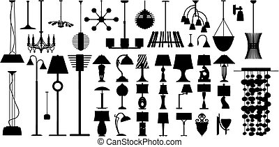 Lamps made in vector