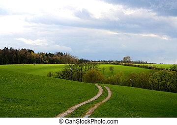 Digital photo of a landscape taken in Bavaria Germany