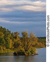 Landscape on a lake in Germany.
