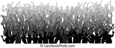 large crowd of dancing people