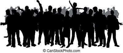 large crowd silhouette