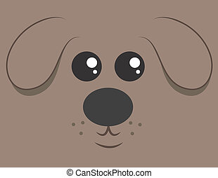 Cartoon dog head filling the space