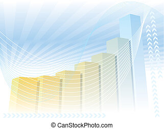 A colorful large graph, good background for business presentation, vector illustration.