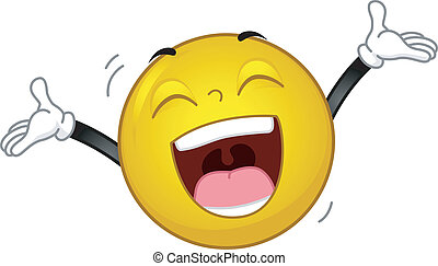 Illustration of a Smiley Laughing Out Loud