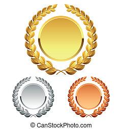 Detailed vector illustration of laurel wreath