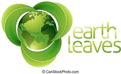 Leaves Globe Earth Concept