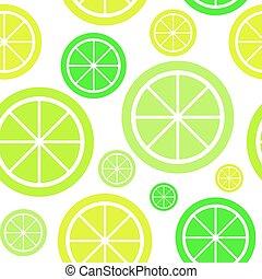 Lemon Fruit Abstract Seamless Pattern Background Vector Illustration