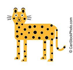 Leopard flat illustration