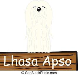 Lhasa apso cartoon dog icon isolated on white background