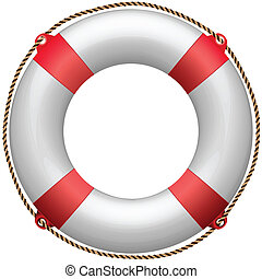 life buoy against white background, abstract vector art illustration