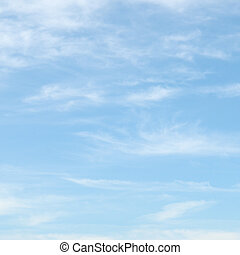 light clouds in the blue sky