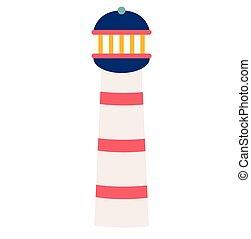 Lighthouse flat illustration